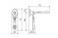 Ручка-серьга 20х74 мм
